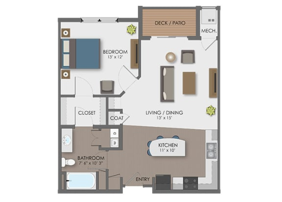 Floor plan at The Edison at Avonlea, Lakeville, MN
