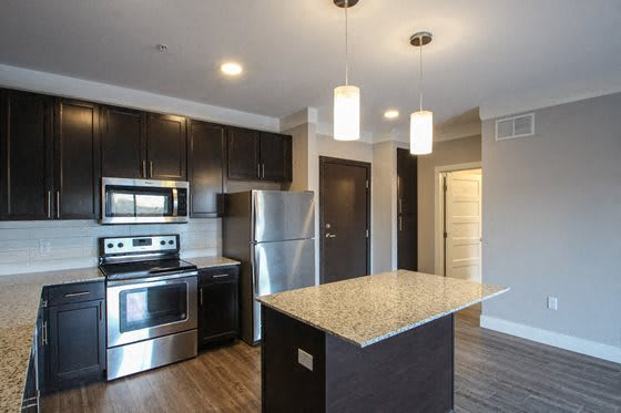 Modern Kitchens w/ Center Island at The Edison at Avonlea, Lakeville, 55044