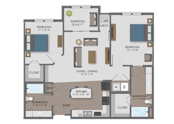 Floor Plan  Floor plan at The Edison at Avonlea, Lakeville, 55044