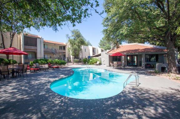 Pool & Pool Patio at Saguaro Villas Apartments in Tucson, AZ