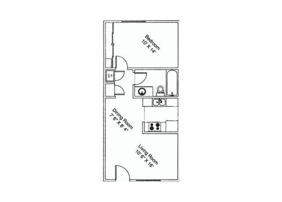 1 bedroom 1 bathroom at Zona Verde Apartments in Tucson, AZ
