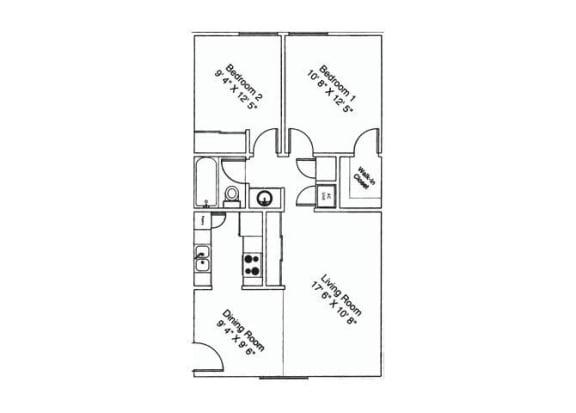 2 bedroom 1 bathroom at Zona Verde Apartments in Tucson, AZ