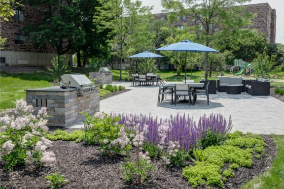 Backyard Amenities View at Willow Crossing, Elk Grove Village