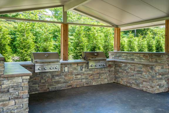 Outdoor BBQ Area
