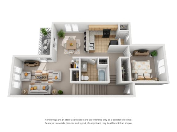 Three Bedroom | Two Bathroom | 1st Floor