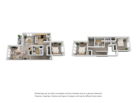 Three Bedroom | Two Bathroom | 1st & 2nd Floor