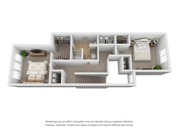 Three Bedroom | Two Bathroom | 2nd Floor