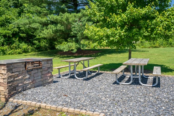 Grilling Area with Picnic Tables