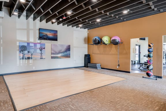 Large Floor Space for Various Work Outs in the Fitness Center