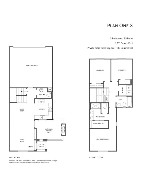 Townhomes at Lost Canyon Plan 1x
