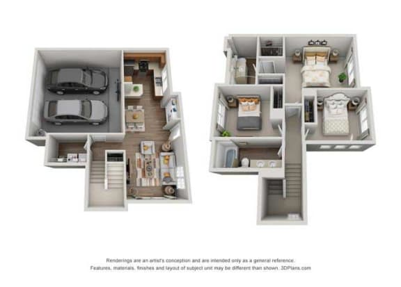 Floor Plan  Burgundy
