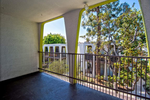 Large Private Patios at Parc at 5 Apartments, Downey, CA, 90240