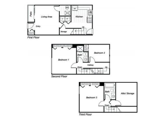 Floor Plan  floorplan at at Parklane Apartments in Gaithersburg, MD