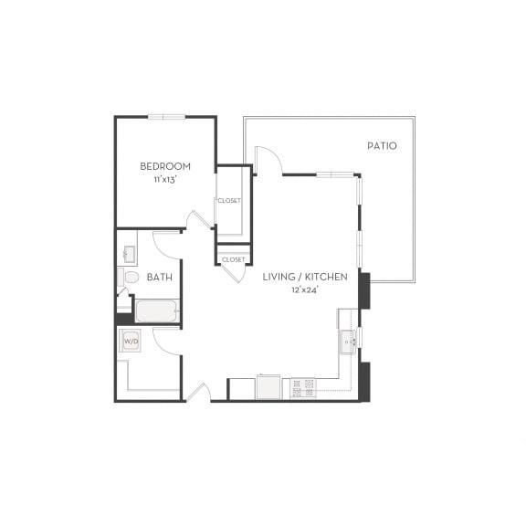 Floor plan at Elan Menlo Park, Menlo Park, 94025