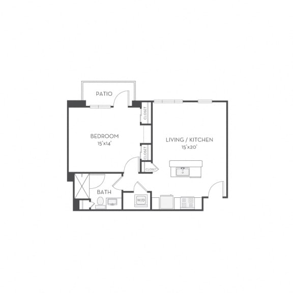 Floor Plan  Floor plan at Elan Menlo Park, California, 94025