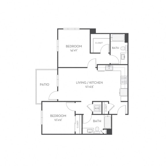 Floor Plan  Floor plan at Elan Menlo Park, California