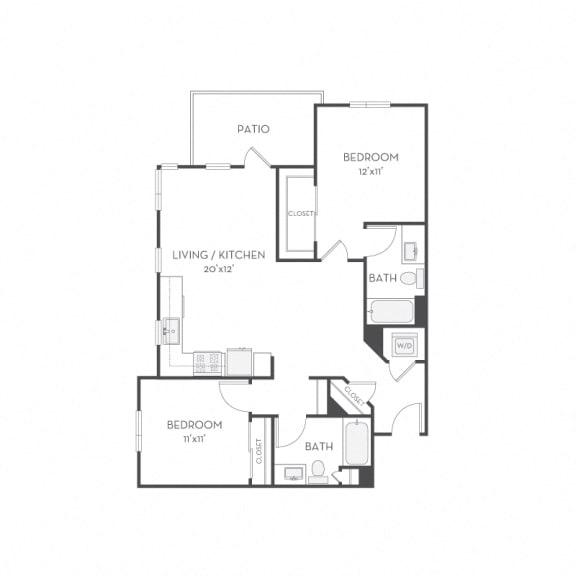 Floor Plan  Floor plan at Elan Menlo Park, Menlo Park, CA