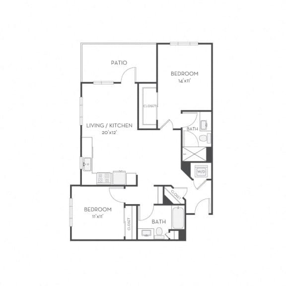 Floor Plan  Floor plan at Elan Menlo Park, Menlo Park, 94025
