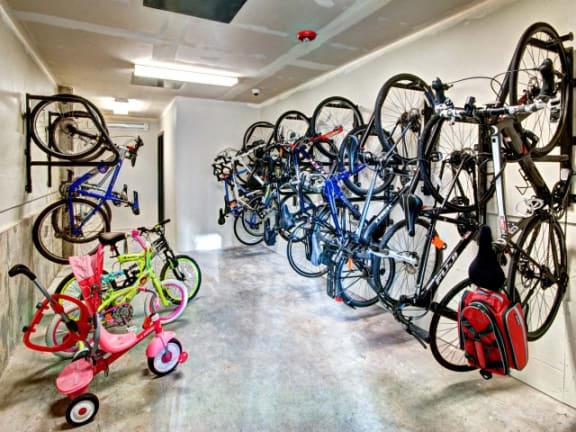 Abundant Bike Storage and Bike Repair Station at Liv Apartments, Bellevue, WA, 98007