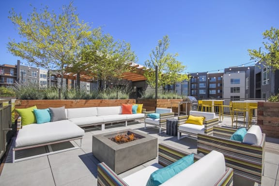 Cozy Fire Pit with Seating at Liv Apartments, Bellevue