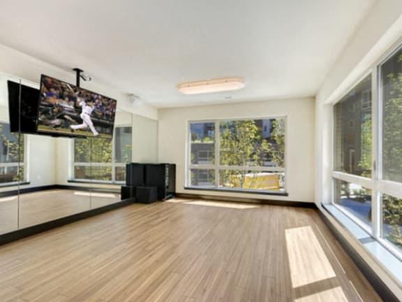Yoga studio at Liv Apartments, Bellevue, 98007
