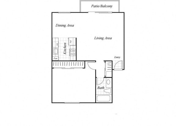 Floor Plan  A2 floorplan at Baycliff Apartments in Richmond, CA