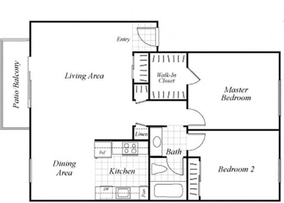 Floor Plan  B3 Floorplan at Baycliff Apartments in Richmond, CA