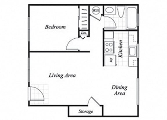 Floor Plan  A1 floorplan at Trestles Apartments in San Jose, CA