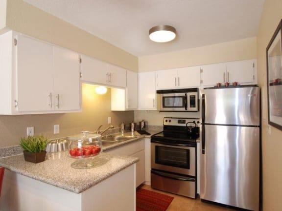 Kitchen at SunVilla Resort Apartments in Mesa, AZ