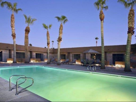 Pool & Pool Patio at SunVilla Resort Apartments in Mesa, AZ