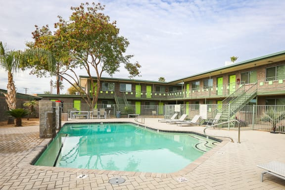 Pool at Carol Mary Apartments in Phoenix, AZ