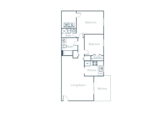 B2 Floor Plan at The Pointe at Midtown, Raleigh, 27609