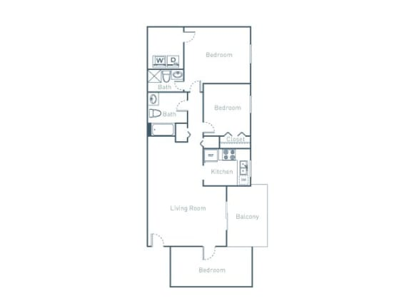 B3D Floor Plan at The Pointe at Midtown, Raleigh, North Carolina
