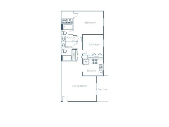 B4 Floor Plan at The Pointe at Midtown, Raleigh