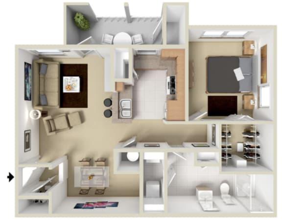 Napa Floor Plan at Overlook at Valley Ridge, Indiana, 46237