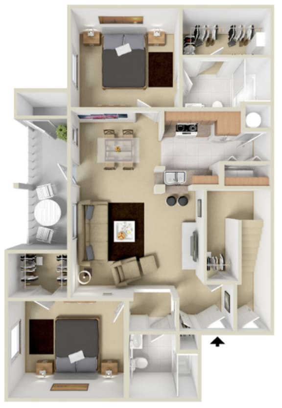 Sonoma Floor Plan at Overlook at Valley Ridge, Indianapolis, IN