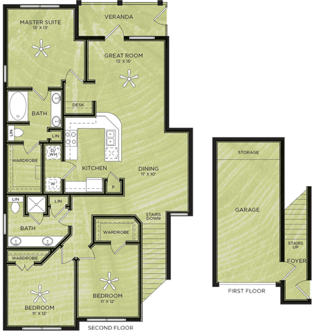 Floor Plan  3 Bedroom 2 Bathroom Floor Plan
