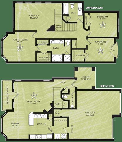Floor Plan  3 Bedroom 2.5 Bathroom Floor Plan