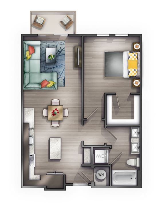 A4 Floor Plan at Peyton Stakes, Nashville, Tennessee