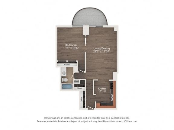 Floor Plan  1 Bedroom 06
