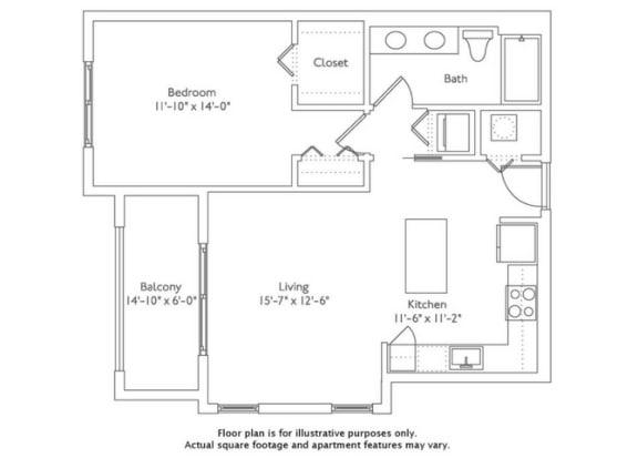 Floor Plan  Floor plan at Mirador at Doral by Windsor, Florida, 33122