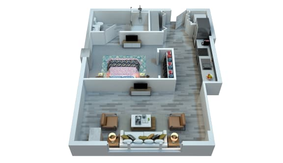 The Stewart Studio Floor Plan - Taylor