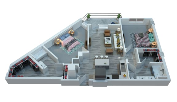 The Stewart Two Bedroom Floor Plan -  Marvin
