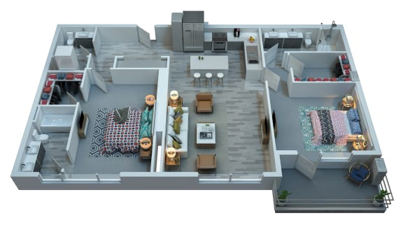 The Stewart Two Bedroom Floor Plan - Morrissey
