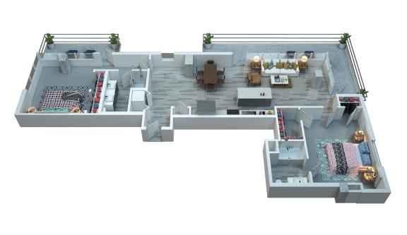 The Stewart Two Bedroom Floor Plan - Nicks