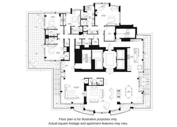 Floor plan at The Bravern, Bellevue, WA, 98004