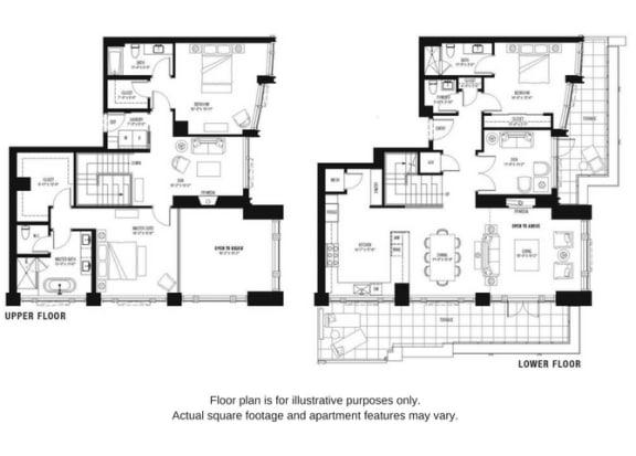 Floor Plan  Floor plan at The Bravern, Bellevue, 98004