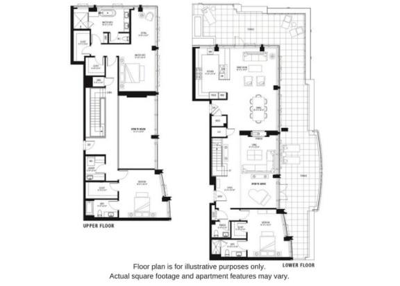 Floor Plan  Floor plan at The Bravern, Bellevue, WA