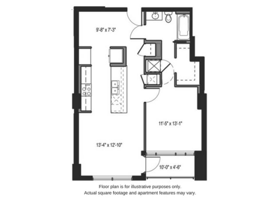 Floor Plan  Floor plan at The Martin, Washington, 98121