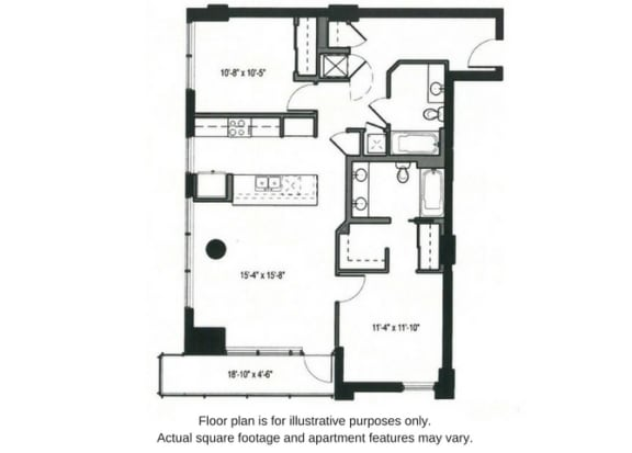Floor Plan  Floor plan at The Martin, Seattle, WA, 98121